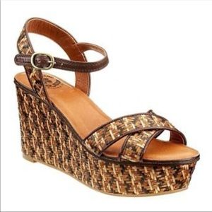 Lucky Brand Kristine Woven Straw Wedges Sandals 8M